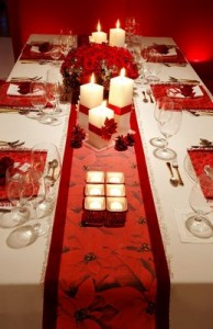 Christmas decorations for dining room table